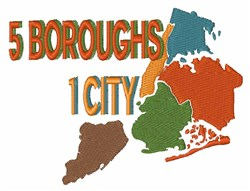 Five Boroughs New York embroidery design
