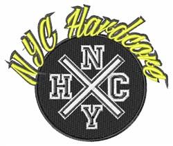 NYC Hardcore embroidery design