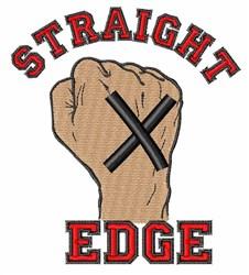 Straight Edge embroidery design