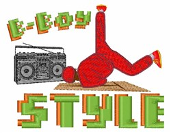 B-Boy Style embroidery design