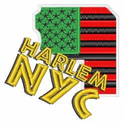 Harlem NYC embroidery design