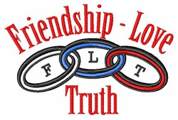 Friendship Love Truth embroidery design