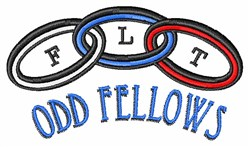 Odd Fellows embroidery design