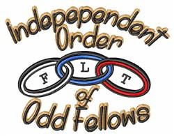 Independent Order embroidery design