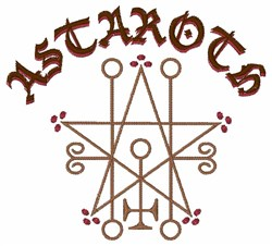 Astaroth Goetic Seal embroidery design