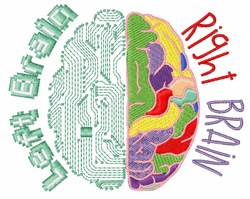 Left & Right Brain embroidery design
