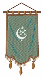 Odd Fellow Moon Banner embroidery design
