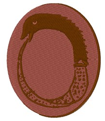 Ancient Greek Ouroboros embroidery design