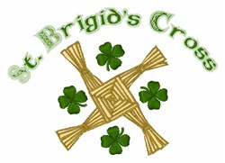 St. Brigids Cross embroidery design