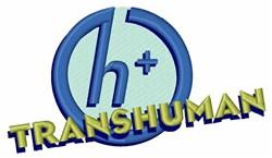 Transhumanist Logo embroidery design