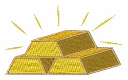 Gold Bars embroidery design