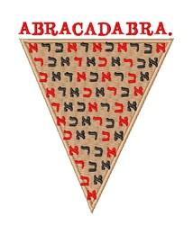Abracadabra embroidery design