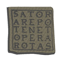 Sator Square embroidery design