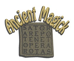Ancient Magick embroidery design