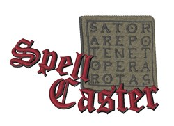 Spell Caster embroidery design