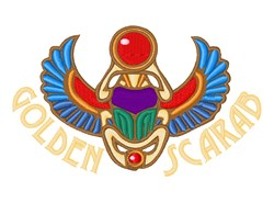 Golden Scarab embroidery design