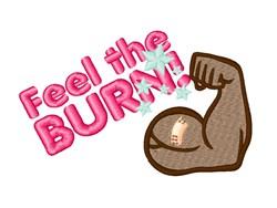 Feel The Burn embroidery design