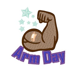 Arm Day embroidery design