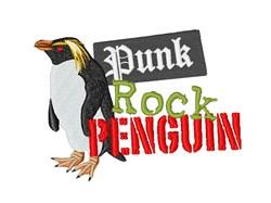 Punk Rock Penguin embroidery design