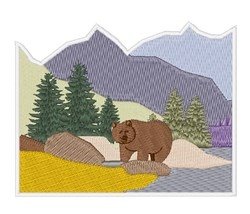 Grizzly Alaska embroidery design