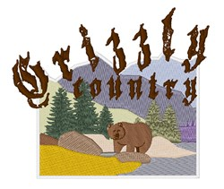 Grizzly Country embroidery design