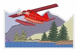 Alaska Plane embroidery design