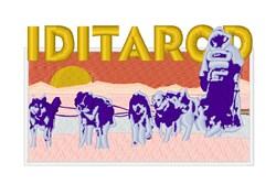 Iditarod Race embroidery design