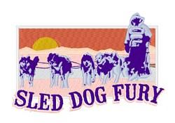 Sled Dog Fury embroidery design