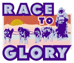 Race To Glory embroidery design