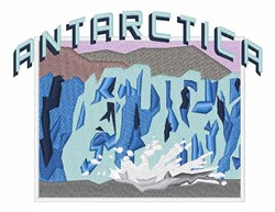 Antarctica embroidery design