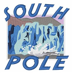 South Pole embroidery design