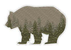 Grizzly Trees embroidery design