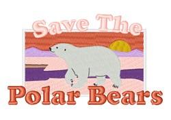 Save Polar Bears embroidery design