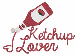 Ketchup Lover embroidery design