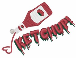 Ketchup! embroidery design