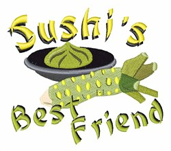 Sushis Friend embroidery design