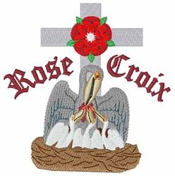 Rose Croix embroidery design