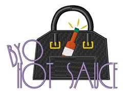 BYO Hot Sauce embroidery design