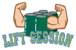Lift Session embroidery design