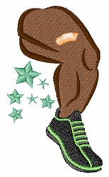 Muscle Leg embroidery design