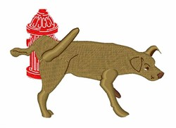 Peeing Dog embroidery design