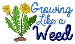 Grow Like Weed embroidery design