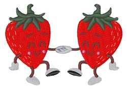 Dancing Strawberries embroidery design