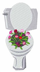 Toilet Flowers embroidery design