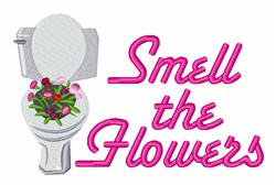 Smell Flowers embroidery design