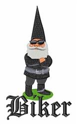 Gnome Biker embroidery design
