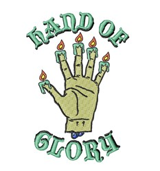 Hand of Glory embroidery design