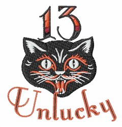 13 Unlucky embroidery design