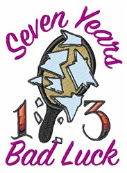 Seven Years embroidery design