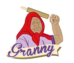 Granny embroidery design